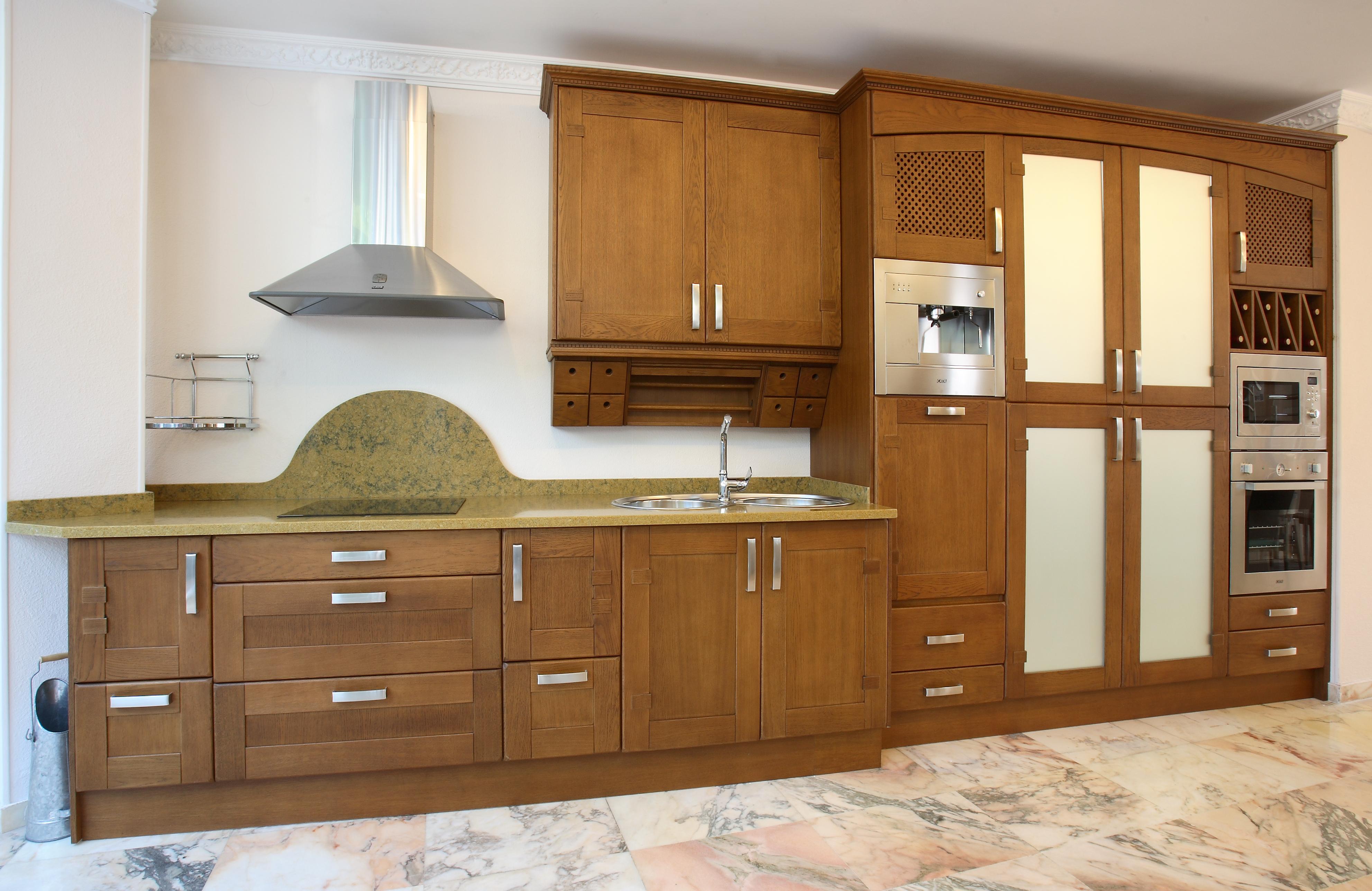 Cocinas madera for Encimeras de madera para cocinas